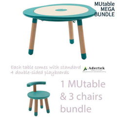 MUtable Bundle - Children Activity Play Table + 3 Chairs (6% OFF) - Tiffany