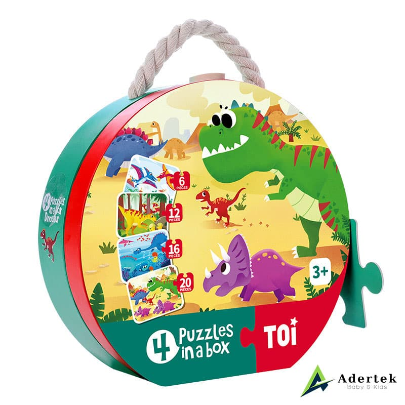TOI 4-in-1 Puzzle Dinosaurs Side View