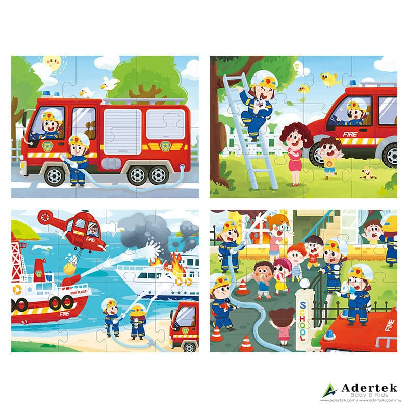 4-in-1 Fireman 4 puzzles