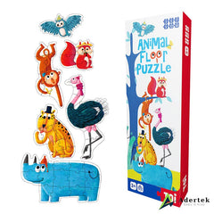 Animal Floor Puzzle With Height Chart Side View