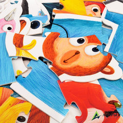 Animal Floor Puzzle With Height Chart Vibrant Colours