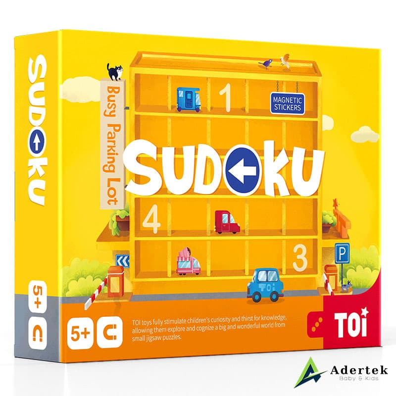 Magnetic Sudoku Game Busy Parking Lot Front View