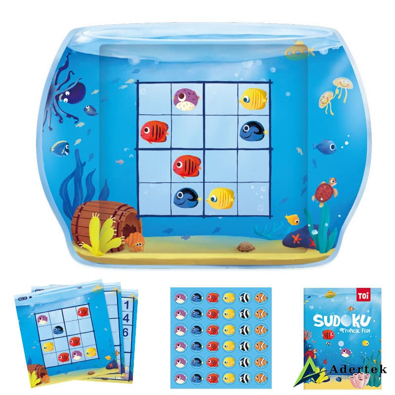 Magnetic Sudoku Game Tropical Fish Full Box Content