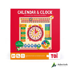 6-in-1 Calendar and Clock Front View