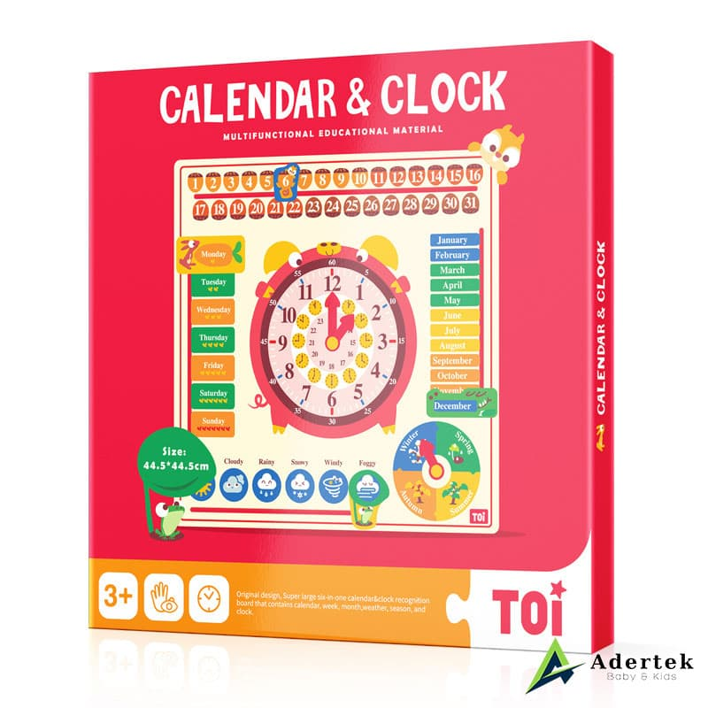 6-in-1 Calendar and Clock Side View