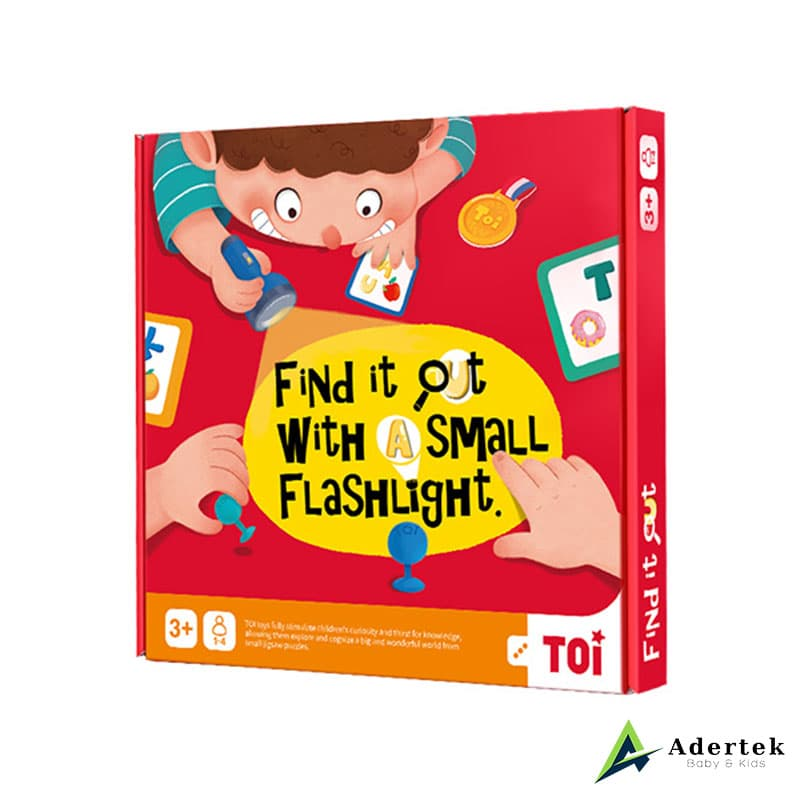 Find It Out With A Small Flashlight board game for kids