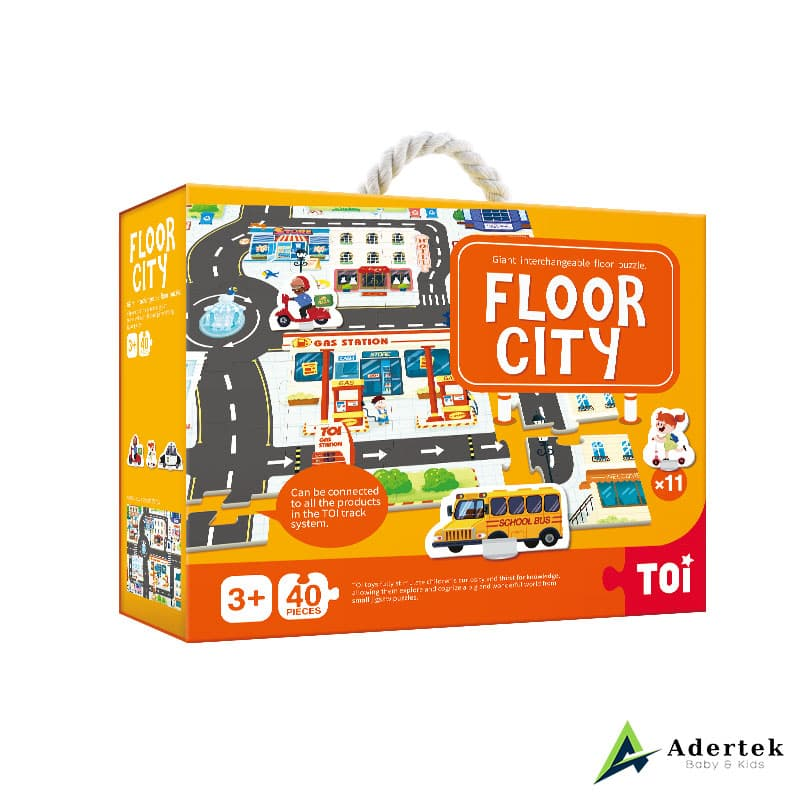 Floor city puzzle game for kids.