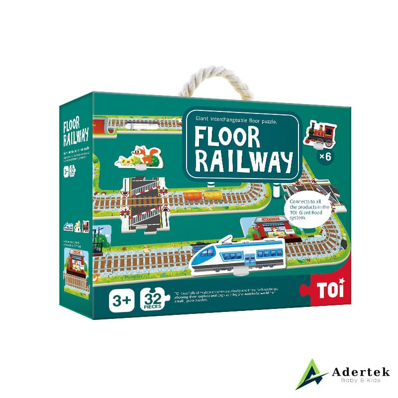 Floor Puzzle Floor Railway board game for kids