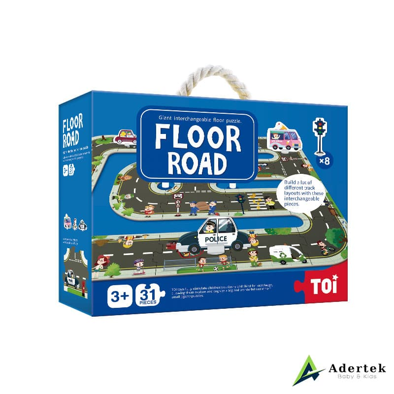 Floor road puzzle game for kids
