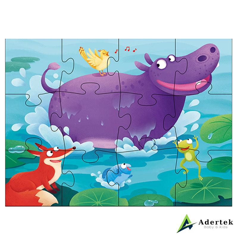 Leveled Puzzle Step 2: 4-in-1 Scene Hippopotamus