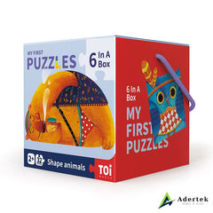 My First Puzzles Shapes Animals Front View