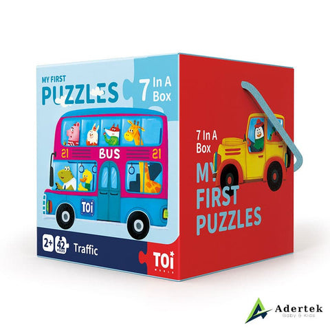 4 Puzzles In A Box Transport (3+ yo)