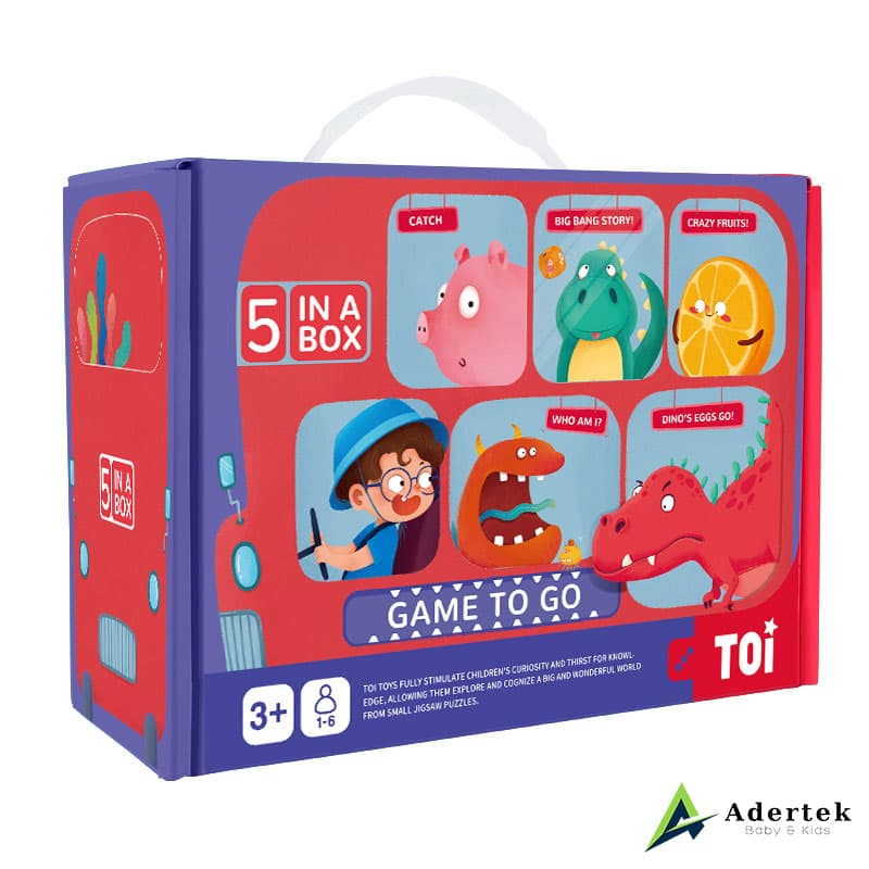 TOI Game To Go 5-in-1 Game Set Suitable for Preschooler