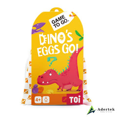 "TOI Game To Go ""Dino's Eggs Go"" Front View"
