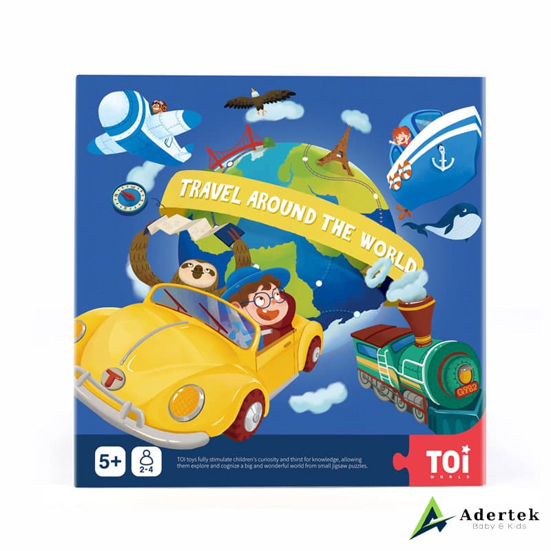 Travel Around The World board game for kids