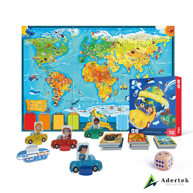 Travel Around The World board game for kids full box