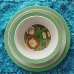 Rainforest Family Kids' Cutlery 5pcs Set big plate and bowl