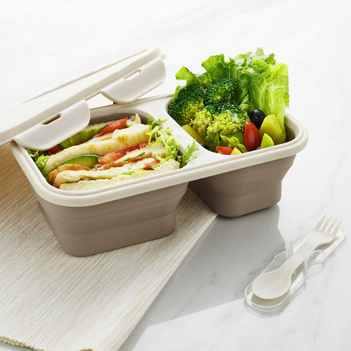Collapsible Lunch Box - Rectangle - Creadys - Adertek Lifestyle