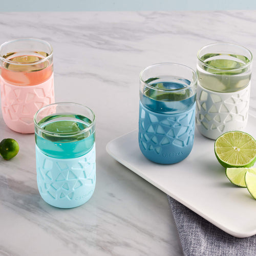 Anti-Slip Glass Cup 4pcs Bundle - Creadys - Adertek Lifestyle