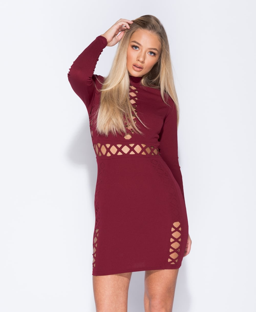 Cut Out Detail Bodycon Mini Dress x 2 Colours Available