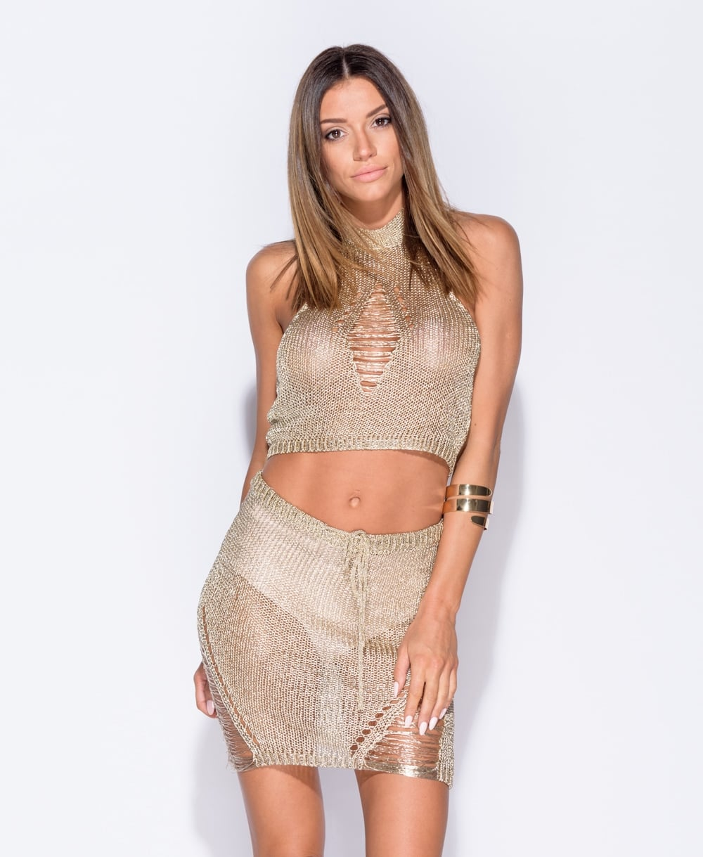 Metallic Knitted Co Ord Set
