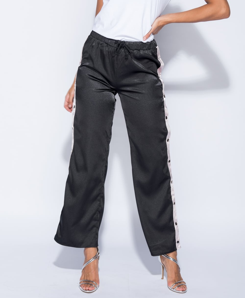 Popper Detail Sports Trousers