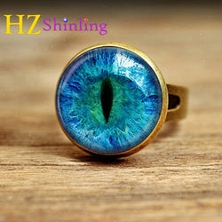 Handmade Glass Cat Eye Ring