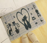 Cat Cartoon Absorbent Rug