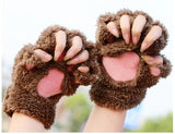 Fluffy Bear Cat Plush Paw Claw Glove