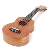 Mahogany Soprano Ukulele (21 inch 15 Fret ) Hawaiian Uke for beginners