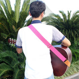 Comfortable Adjustable Woven Cotton Guitar Strap with Leather Ends