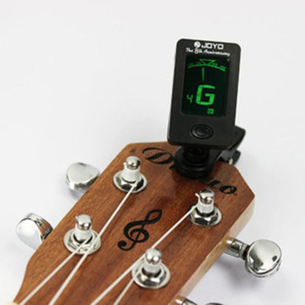 Compact Chromatic Clip-On Digital Tuner For Acoustic, Electric and Bass Guitar