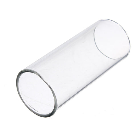 Length 60mm Diameter 22mm Thickness 2mm Guitar Slide Glass Finger Slider Electric Guitar Pick Accessories Tube Knuckle