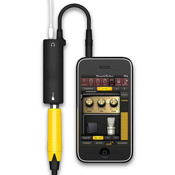 Guitar Link Audio Interface System - Cable Jack for iPhone iPad iPod