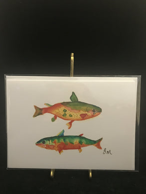 Watercolor Trout Card
