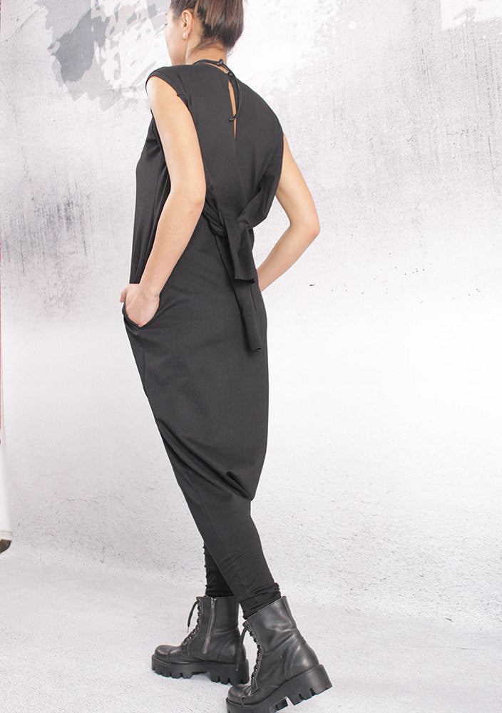 Jump suit,Plus size jump suit,Over sized jump suit,Black loose union suit,TA006PU