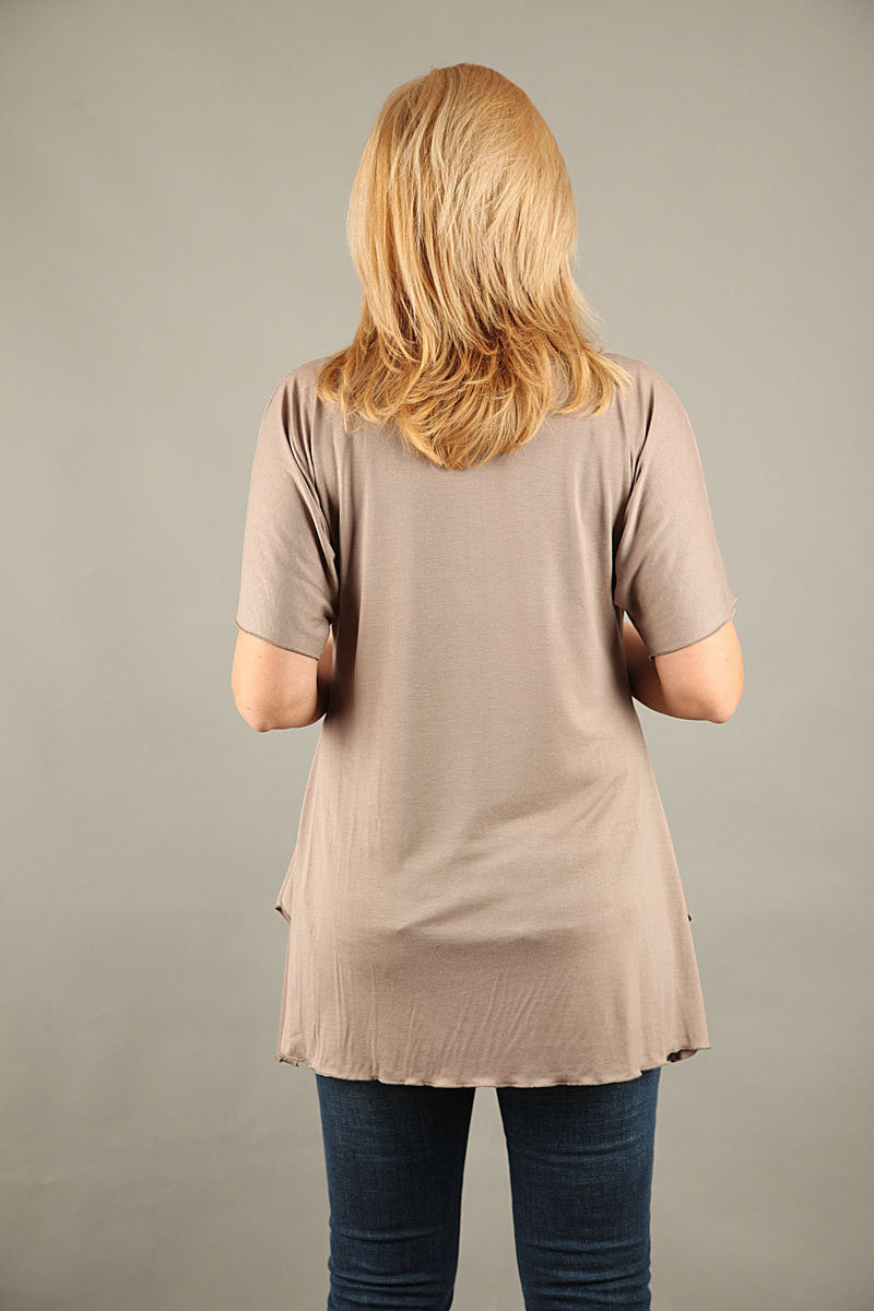 Tunic,Long tunic with short sleeves,COHANAVL