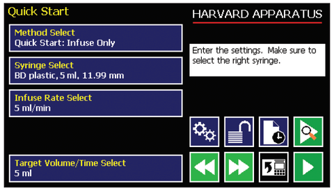 quick-start-screen-harvard-apparatus-pump-11-pico-plus-elite-microfluidic-programmable-syringe-pump
