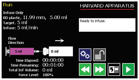 run-start-screen-harvard-apparatus-pump-11-pico-plus-elite-microfluidic-programmable-syringe-pump