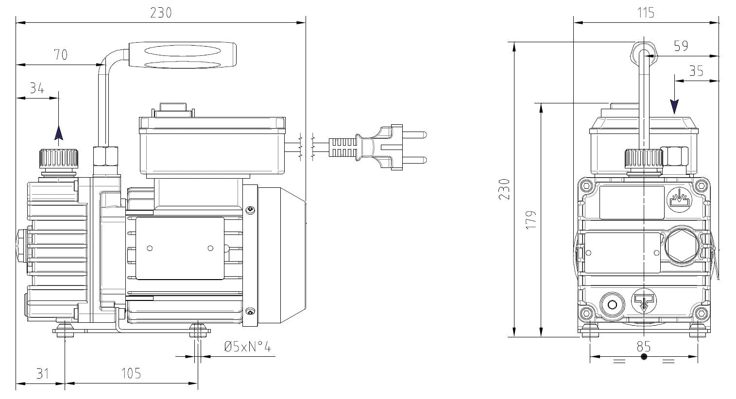 specifications vacuum pump_darwin microfluidics