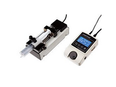 Small footprint microfluidic syringe pump