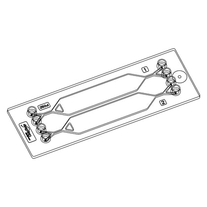 Chip Rhombic Chamber (pack of 3) - Mini Luer - Darwin Microfluidics