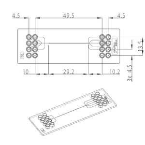 Chip Droplet Generator (pack of 3) - One channel design - mini Luer