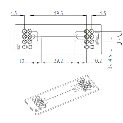 Chip Droplet Generator (pack of 3) - One channel design - mini Luer - Darwin Microfluidics