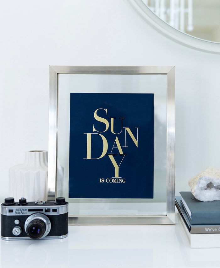 Sunday Is Coming Art Print