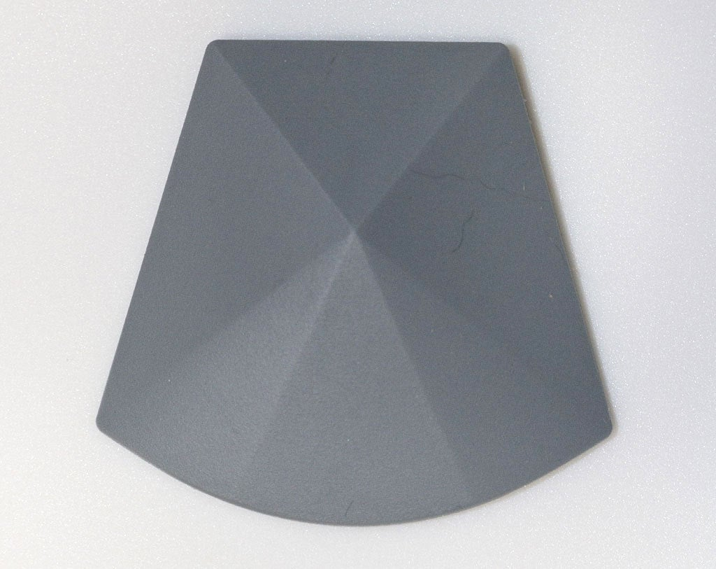 1 Large Trapezoid Bead - Grey