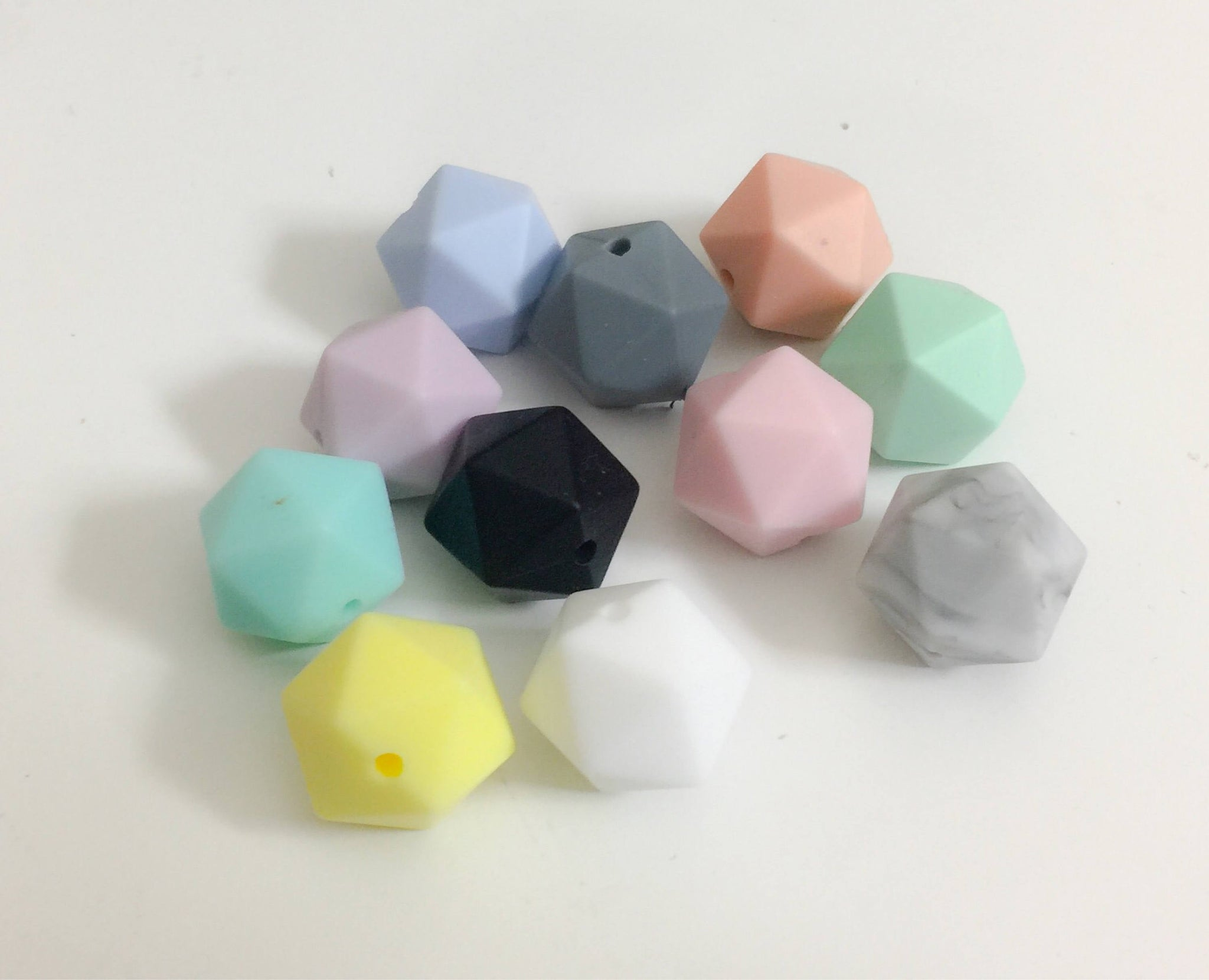 14 mm Icosahedrons in 11 Colors
