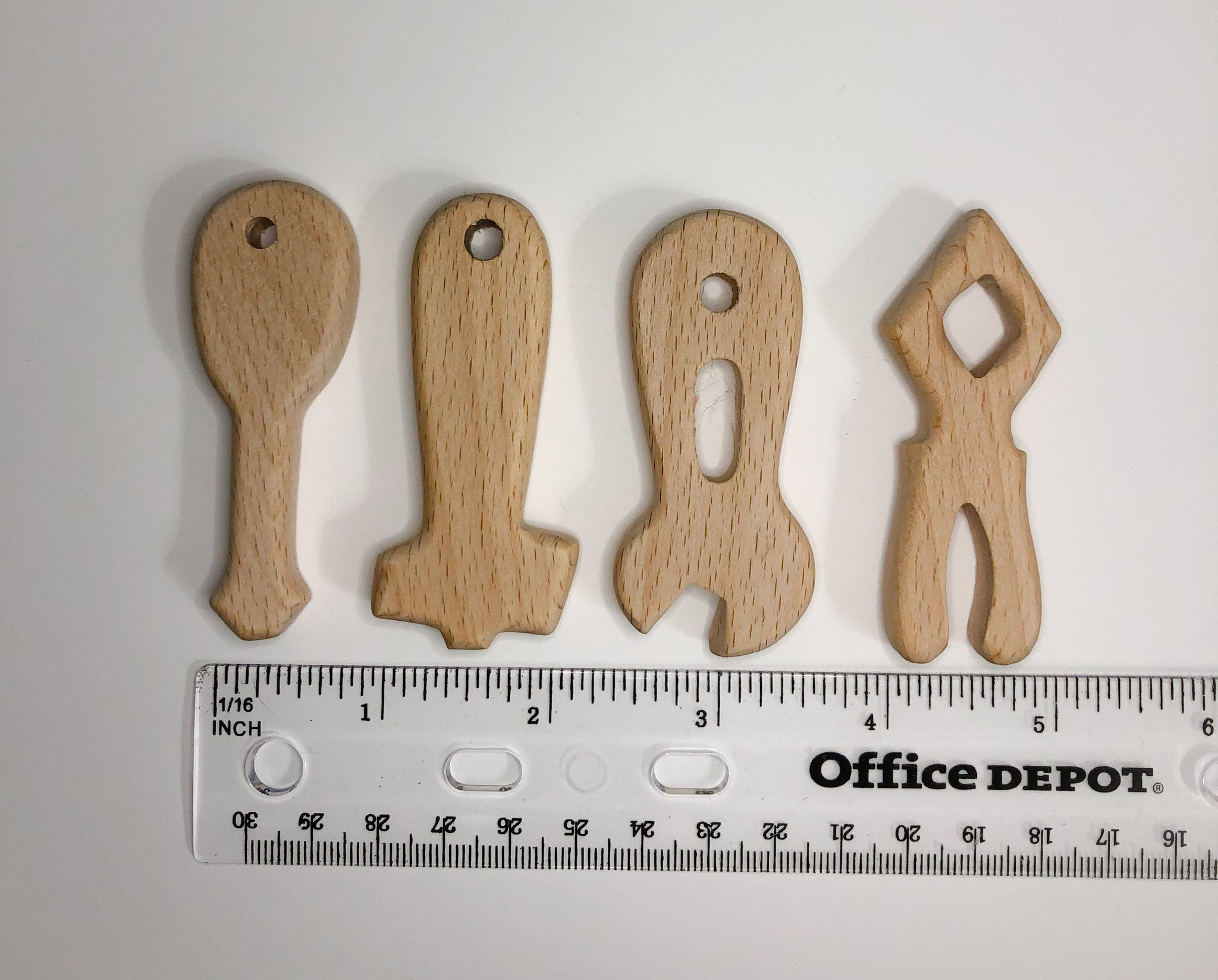 Wood Tools Hammer ONLY (1) - DIY Teething Wood Bead - Birch Tool Bead - Wood Teething Bead - Engravable - Personalized