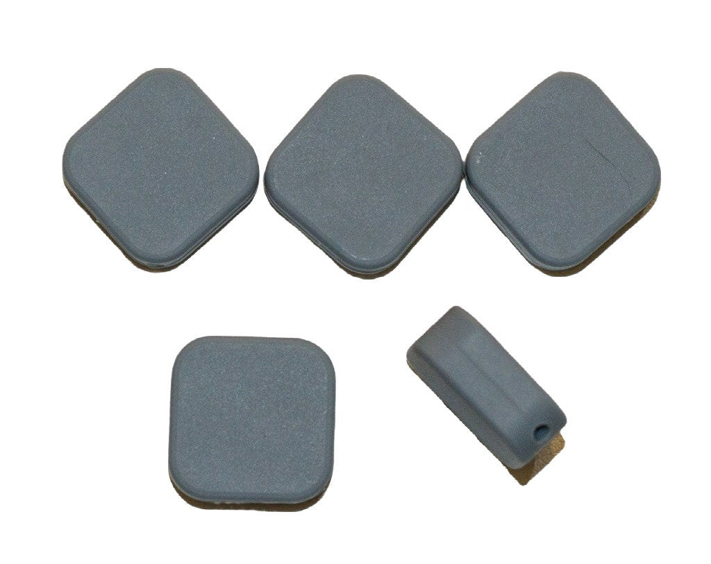 SALE - 1-5 Tile Silicone Beads in Grey - Square with Rounded Edges - 20 mm x 20 mm x 8 mm