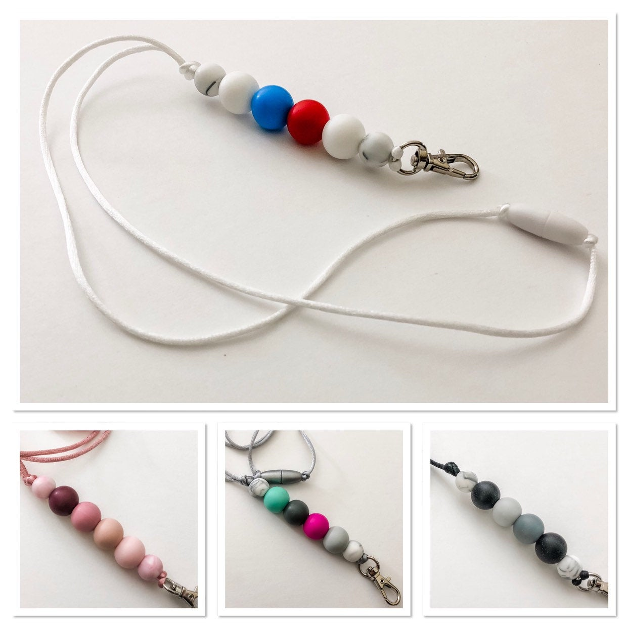 Custom Teacher Lanyard - Custom Colors - Silicone Bead Lanyard